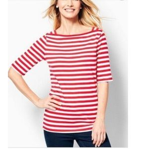 Talbots - Red and White Striped Tee